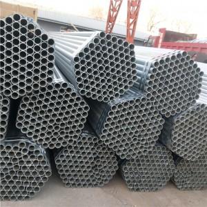Round  Pre Galvanized Steel Pipe