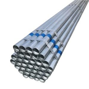 Hot Dip Galvanizing round  Steel Pipe